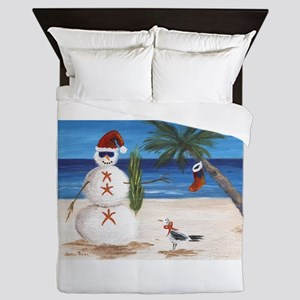 Christmas Beach Sandman Queen Duvet