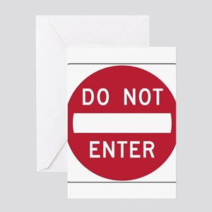 Do Not Enter Greeting Cards