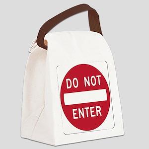 Do Not Enter Canvas Lunch Bag