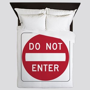 Do Not Enter Queen Duvet
