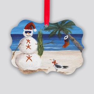 Christmas Beach Sandman Ornament