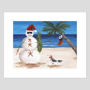 Christmas Beach Sandman Posters