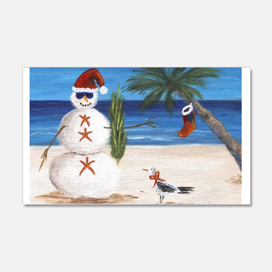 Christmas Beach Sandman Wall Decal