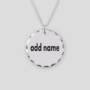 Add Text Font Modern Necklace