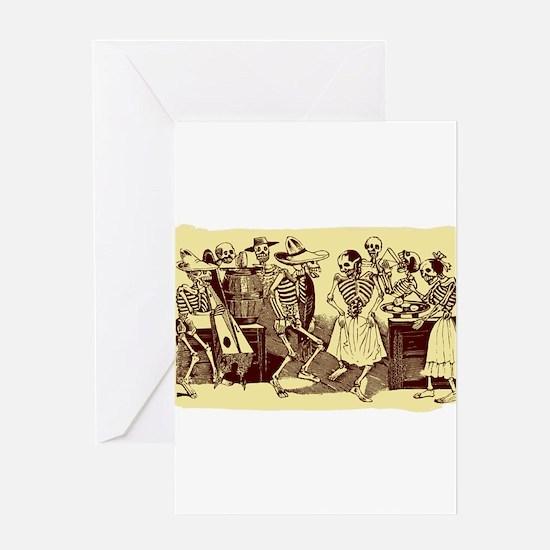 Antique Jose Posada Dance Of The Skeletons Print G