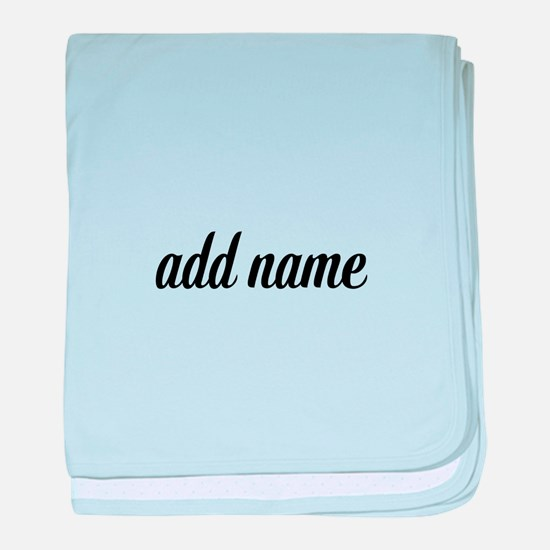 Add Text Font script baby blanket