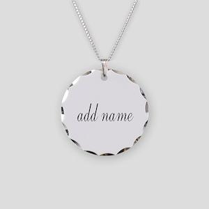 Add Text Font Script Necklace
