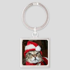 Santas Helper Cat Keychains