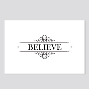 Believe Calligraphy Postcards (Package of 8)
