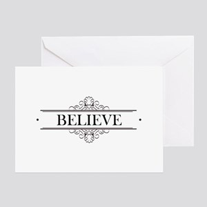Believe Calligraphy Greeting Card