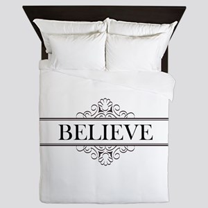 Believe Calligraphy Queen Duvet