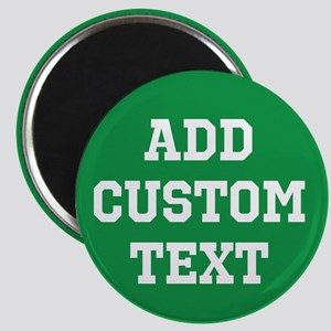 Custom Sports Text Green White Magnets