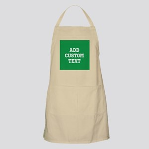 Custom Sports Text Green White Apron