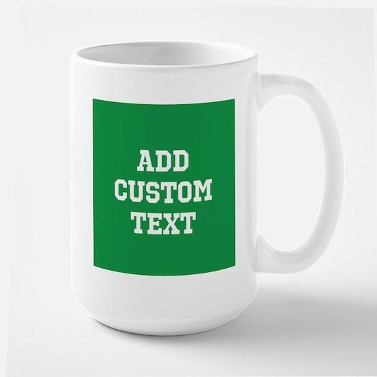 Custom Sports Text Green White Mugs