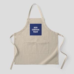Custom Sports Text Blue White Apron