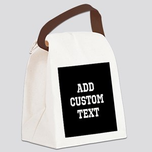 Custom Sports Text Black and White Canvas Lunch Ba