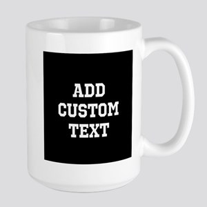 Custom Sports Text Black and White Mugs