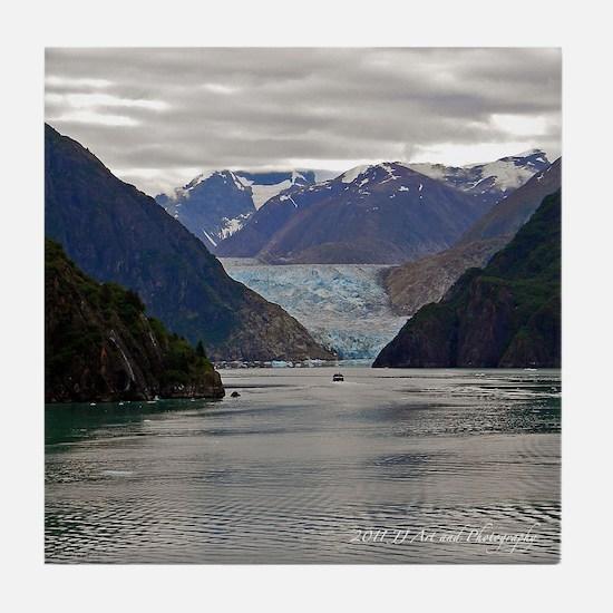 Tracy Arm Glacier Tile Coaster