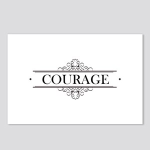 Courage Calligraphy Postcards (Package of 8)