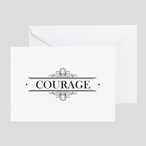 Courage greeting cards cafepress courage calligraphy greeting card m4hsunfo