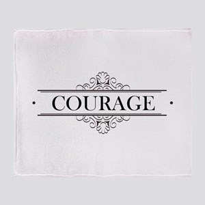 Courage Calligraphy Throw Blanket