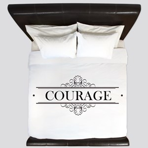 Courage Calligraphy King Duvet