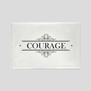 Courage Calligraphy Rectangle Magnet