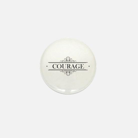 Courage Calligraphy Mini Button