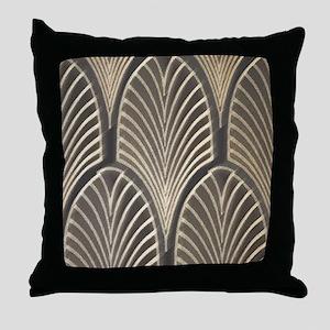 Art Deco Fan Geometric Throw Pillow