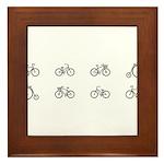 Bicycles Framed Tile