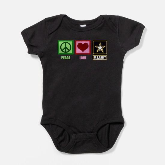 Peace Love Army Baby Bodysuit