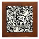 Art Deco Shell Pattern Framed Tile