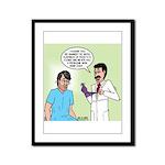 Dr. Banner Prostate Exam Framed Panel Print