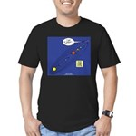 Pluto Loses Planet Status Men's Fitted T-Shirt (da