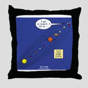 Pluto Loses Planet Status Throw Pillow