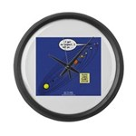 Pluto Loses Planet Status Large Wall Clock