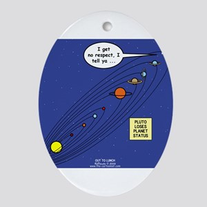 Pluto Loses Planet Status Ornament (Oval)