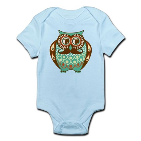 Fat Owl with Mustache Body Suit