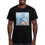 Noah Talks to God Men's Fitted T-Shirt (dark)