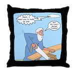 Noah Talks to God Throw Pillow