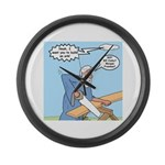 Noah Talks to God Large Wall Clock