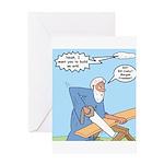 Noah Talks to God Greeting Card