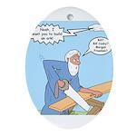 Noah Talks to God Ornament (Oval)