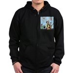 Macho Country Singer Zip Hoodie (dark)