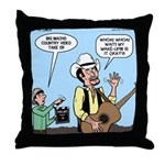 Macho Country Singer Throw Pillow