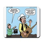 Macho Country Singer Mousepad