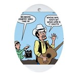 Macho Country Singer Ornament (Oval)