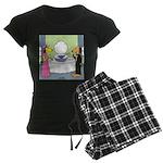 Toilet Bowl Punch Bowl Women's Dark Pajamas