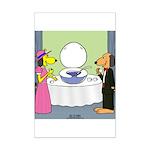 Toilet Bowl Punch Bowl Mini Poster Print