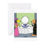 Toilet Bowl Punch Bowl Greeting Cards (Pk of 10)